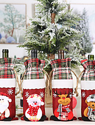cheap -Wine Bottle Cover Cloth 1 Piece Christmas