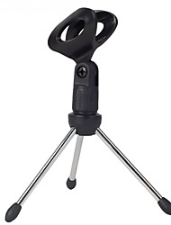 cheap -Mini Portable Table Tops Microphone Tripod Zinc Alloy Mic Stand Bracket Desktop Adjustable Microphones Tripods Holder