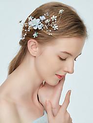 cheap -Alloy Headpiece with Flower 1 Piece Wedding / Birthday Headpiece