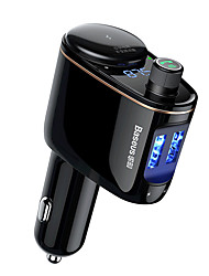 Недорогие -Baseus локомотив Bluetooth mp3 автомобильное зарядное устройство черный