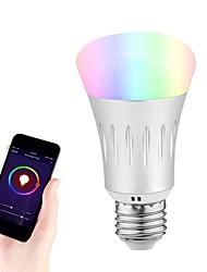 cheap -1pc 7 W LED Globe Bulbs LED Smart Bulbs 600-700 lm E26 / E27 6 LED Beads RGB+Cold&Warm White 85-265 V