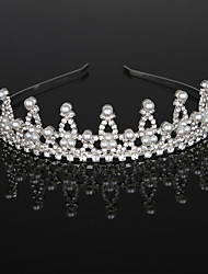 cheap -Imitation Pearl / Rhinestone / Alloy Tiaras / Headbands / Headdress with Rhinestone / Crystal / Faux Pearl 1 Piece Wedding / Birthday Headpiece