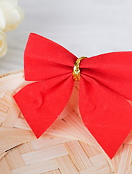 cheap -NEW 12Pcs/Lot 5*6cm Christmas Tree Decorations Color Bow Bowknot Christmas Decorations for Tree Xmas Noel Ornaments for Home