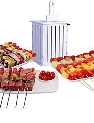 cheap -36 Hole Meat Skewer Machine Kabob Maker Box BBQ Tool Beef Mutton Meat Grill Machine Beef Meat Maker