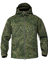 cheap -Men's Hunting Jacket Outdoor Thermal / Warm Windproof Wearproof Comfortable Spring Fall Winter Camo Terylene Forest Green Camouflage Blue