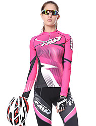 cheap -Mountainpeak Women's Long Sleeve Cycling Jersey with Tights Winter Fleece Bule / Black Black / Yellow Black / White Stripes Bike Clothing Suit Thermal / Warm Fleece Lining Breathable 3D Pad Quick Dry