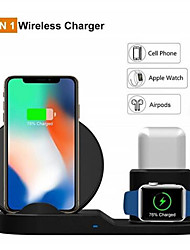 cheap -10W Qi Wireless Charger For Iphone X XS XR 8 Plus 11 Pro Max 3 IN 1 Fast Chargeur Quick Charge For Apple Watch Airpods 4 3 2 1 Cargador Inalambrico