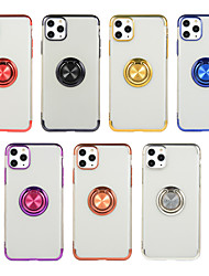 cheap -Case For Apple iPhone 11 / iPhone 11 Pro / iPhone 11 Pro Max Ring Holder Back Cover Solid Colored TPU
