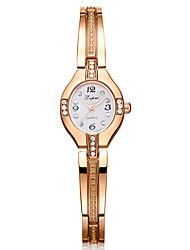 Недорогие -Жен. Часы-браслет Цирконий На каждый день Элегантный стиль Серебристый металл Золотистый сплав Китайский Кварцевый Золотой + черный Белый + Gold Серебро / черный Повседневные часы Имитация Алмазный 1