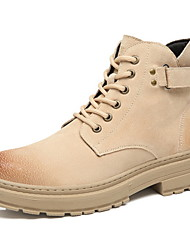 cheap -Men's Suede Shoes Suede Fall & Winter Boots Booties / Ankle Boots Camel / Beige / Khaki