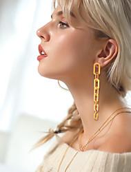 cheap -Women's Ear Piercing Drop Earrings Hoop Earrings Tassel Vertical / Gold bar Simple Trendy Fashion Stainless Steel S925 Sterling Silver Earrings Jewelry Gold / Silver For Gift Daily Carnival Festival