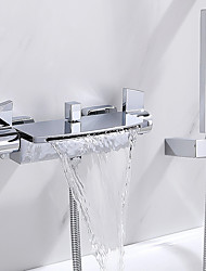 cheap -Bathtub Faucet Chrome Wall Mounted Ceramic Valve Bath Shower Mixer Taps
