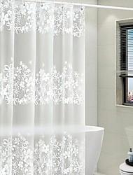 cheap -Shower Curtains White Modern PEVA Waterproof