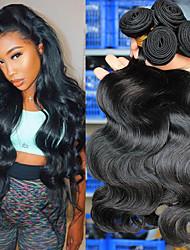 cheap -3 Bundles Hair Weaves Brazilian Hair Body Wave Human Hair Extensions Human Hair 300 g Natural Color Hair Weaves / Hair Bulk Weave 10-24 Inch Natural Natural Hot Sale Fashion