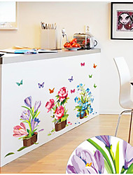 cheap -AY7274 flower pot fashion home decoration porch bedroom living room background decoration removable wall sticker