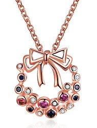cheap -Women's Pendant Necklace Geometrical Flower Fashion Chrome Gold Silver 45 cm Necklace Jewelry 1pc For Christmas Daily