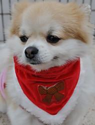 Недорогие -Собаки Шарф для собаки Зима Одежда для собак Красный Костюм Полиэстер В снежинку Звезды Косплей Рождество XS S