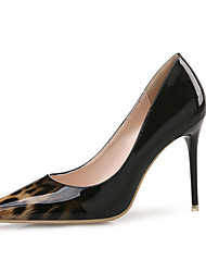 cheap -Women's Heels Stiletto Heel Pointed Toe Patent Leather Classic / Minimalism Spring &  Fall / Spring & Summer Black / Brown / White / Party & Evening / Leopard