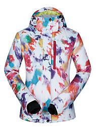 cheap -MUTUSNOW Women's Ski Jacket Skiing Camping / Hiking Snowboarding Waterproof Windproof Warm Polyester Winter Jacket Ski Wear