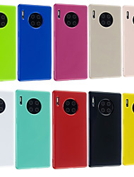 cheap -Case For Huawei Huawei P30 / Huawei P30 Pro / Huawei P30 Lite Frosted Back Cover Solid Colored TPU
