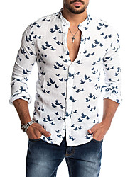 cheap -Men's Daily Shirt - Houndstooth White
