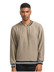 cheap -Men's Work / Casual Sweatshirt - Solid Colored Camel US38 / UK38 / EU46