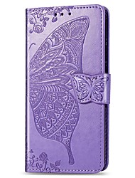 cheap -Case For Apple iPhone 11 / iPhone 11 Pro / iPhone 11 Pro Max Wallet / Card Holder / Shockproof Full Body Cases Butterfly / Solid Colored PU Leather