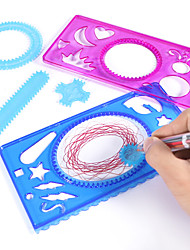 cheap -Drawing Toy Spirograph Design Set Plastic & Metal Hand-made Child's Adults' for Birthday Gifts or Party Favors