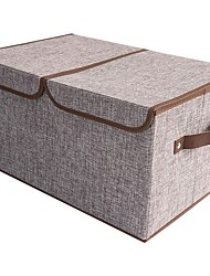 cheap -Foldable Large Clothes Comforter Storage Bags, Breathable Linen Closet Storage and Organizers for Blankets
