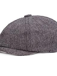 cheap -Men's Basic Polyester Beret Hat-Striped Fall Light gray Dark Gray Khaki