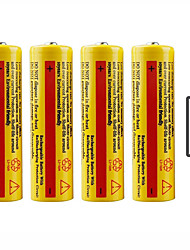 cheap -Li-ion 18650 Battery 5000 mAh 4pcs Rechargeable Emergency for Working LED Flashlight Bike Light Camping / Hiking Hunting Fishing
