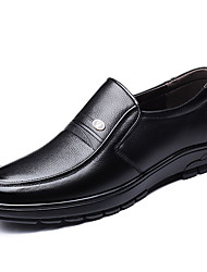 cheap -Men's Comfort Shoes PU Fall Casual Loafers & Slip-Ons Non-slipping Black / Brown