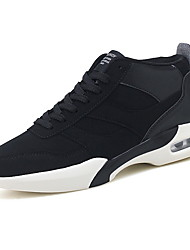 cheap -Men's Comfort Shoes Faux Leather Fall Athletic Shoes Running Shoes Black / Black and White / Black / Red