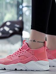 cheap -Men's Comfort Shoes Mesh Fall Athletic Shoes Running Shoes Black / Black / White / White