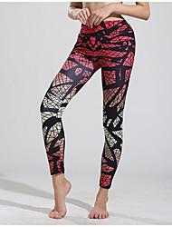 cheap -Women's Yoga Pants Fashion Black / Silver Blue Black Dark Pink Orange Elastane Fitness Gym Workout Tights Leggings Bottoms Sport Activewear Breathable Moisture Wicking Quick Dry Sweat-wicking High