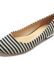 cheap -Women's Wedding Shoes Flat Heel Round Toe Canvas Classic / Sweet Spring & Summer / Fall & Winter Black / Blue / Party & Evening / Striped