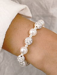 cheap -Women's Bead Bracelet Frosted Ball Lucky Sweet Cute Imitation Pearl Bracelet Jewelry White For Daily Work Festival