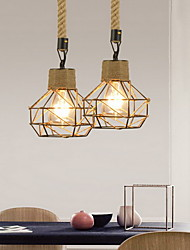 cheap -1-Light 15 cm Mini Style Pendant Light Hemp Rope Electroplated Traditional / Classic / Nordic Style 220-240V