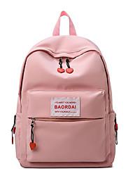Недорогие -Водонепроницаемость Нейлон Молнии рюкзак Сплошной цвет Повседневные Черный / Желтый / Розовый