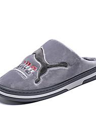 cheap -Men's Comfort Shoes Faux Fur Winter Casual Slippers & Flip-Flops Walking Shoes Warm Black / Brown / Gray