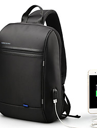 cheap -13.3 Inch Laptop Commuter Backpacks Polyester Solid Colored for Men for Women for Business Office Shock Proof with USB Charging Port / Headphones Hole