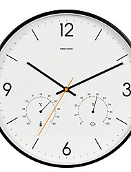 cheap -Wall Clock,Modern Contemporary Plastic & Metal Round Indoor
