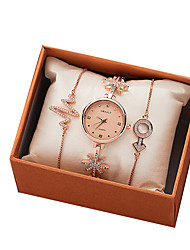 cheap -Women's Quartz Watches New Arrival Elegant Rose Gold Stainless Steel Japanese Quartz Rose Gold Cute New Design Adorable 3 Pieces Analog Two Years Battery Life