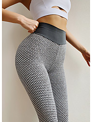 cheap -Women's High Waist Leggings Tiktok Scrunch Butt Ruched Butt Lifting Yoga Pants Tummy Control White Black Purple Spandex Fitness Gym Workout Running Sports Activewear High Elasticity Skinny / Athletic