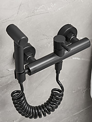 cheap -Bidet Faucet BlackToilet Handheld bidet Sprayer Self-Cleaning Contemporary
