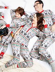 Недорогие -Семейный вид Животное Рождество Набор одежды Белый