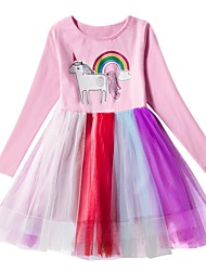 cheap -Kids Girls' Animal Dress Purple