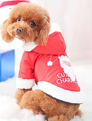 cheap -Dog Jumpsuit Winter Dog Clothes Brown Orange Red Costume Polyster Animal Slogan Santa Claus Cosplay Christmas S M L XL XXL