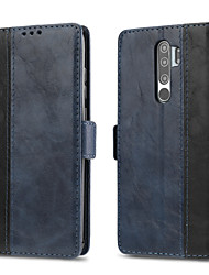 cheap -Case For Xiaomi Redmi Note 7 / Redmi Note 8 / Redmi Note 8 Pro Card Holder / Magnetic / Auto Sleep / Wake Up Full Body Cases Solid Colored PU Leather
