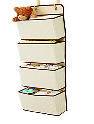 cheap -Hanging Organizer Over The Narrow Closet Door For Shoes, Hats, Gloves, Snacks